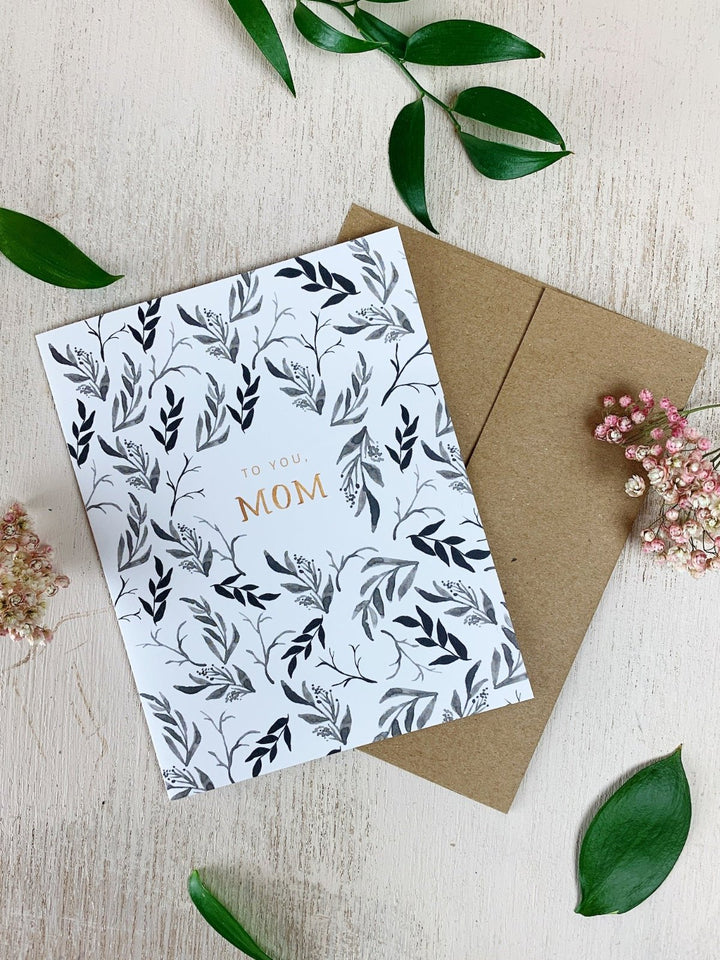 Mom Falling Leaves Card