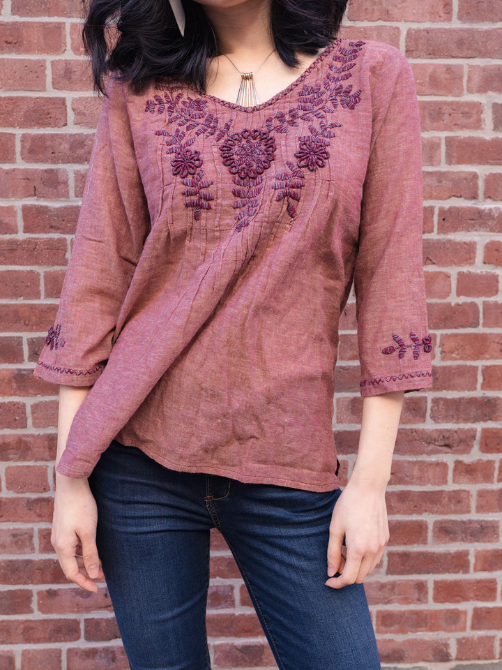 Hand-Embroidered Amara Tunic
