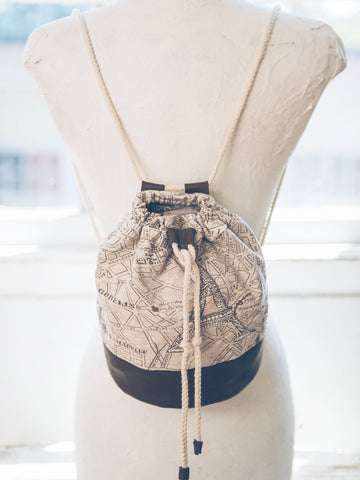 Paris Map Backpack