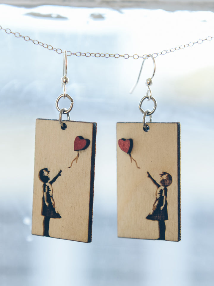 Banksy Girl Earrings