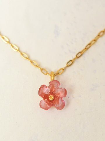 Tiny Wild Flower Pendant Necklace