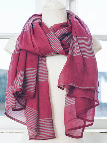 Susan Hand Printed Cotton Scarf
