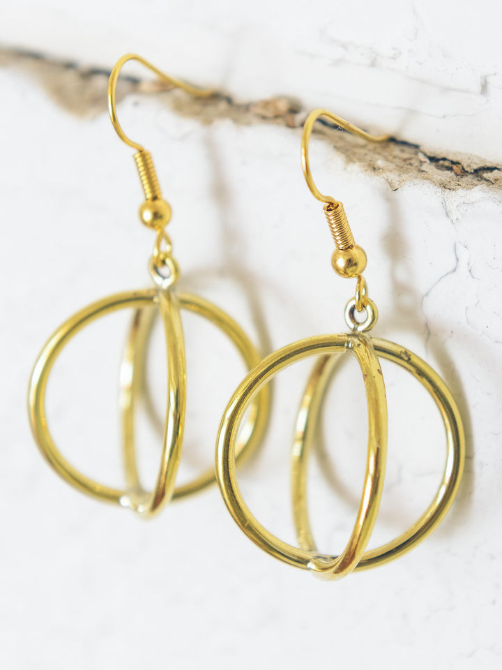 Kannika Brass Earrings