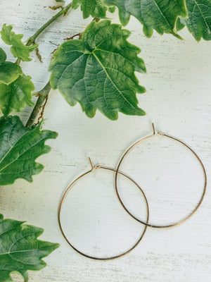 Classic Hammered Hoop Earrings