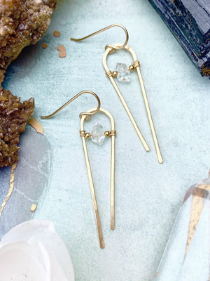 Myra Herkimer Diamond Earrings
