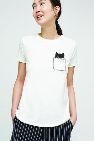 Peeking Cat Tee