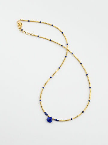 Dainty Jewel Charm Gold Beads Necklace