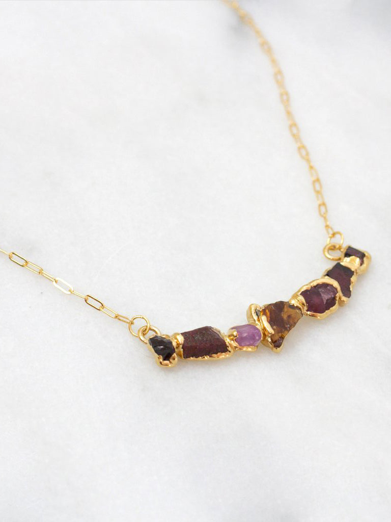 Ruby Curve Necklace