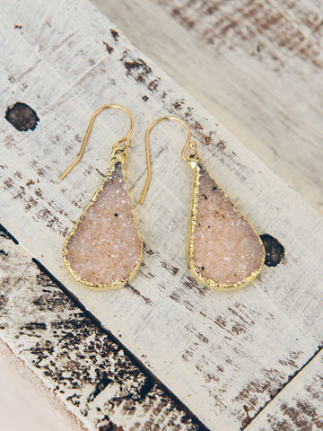Teardrop Druzy Earrings