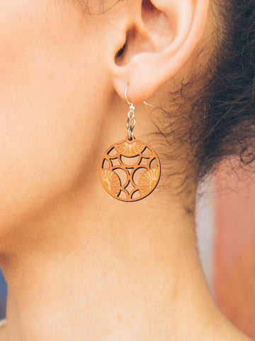 Circle Fan Earrings
