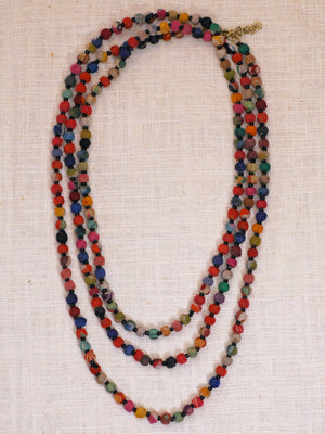 Kantha Rope Necklace