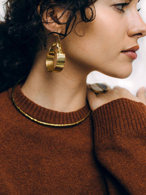 Isabelle Brass Earrings