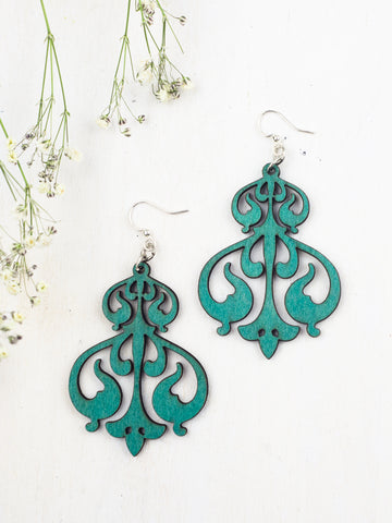 Rorschach Earrings