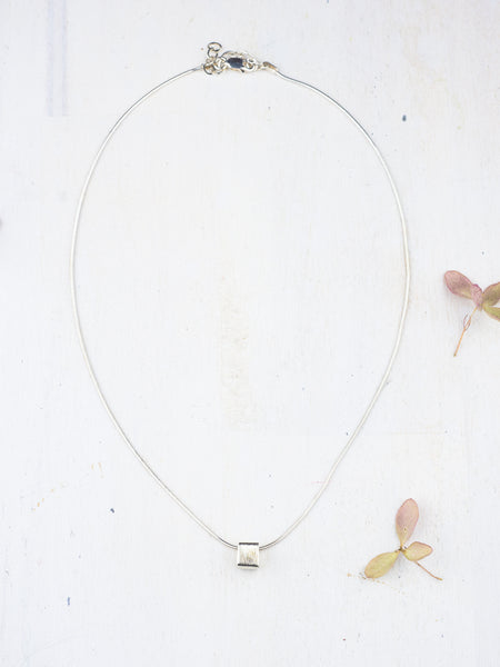 Tiny Square Necklace