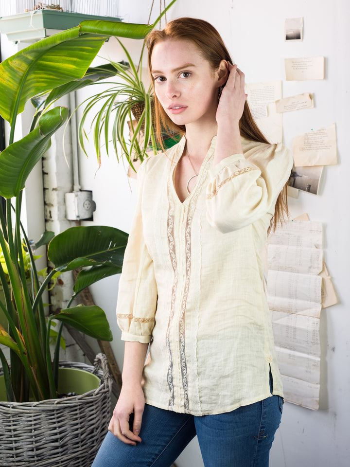Linen & Lace Tunic - FINAL SALE