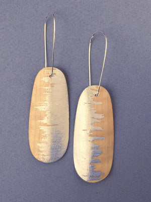 Oval Sycamore Wood Earrings