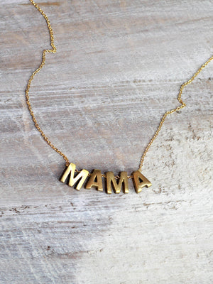 BOSS or MAMA Word Necklace