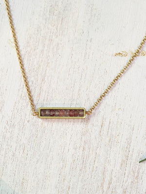 Abacus Crystal Necklace