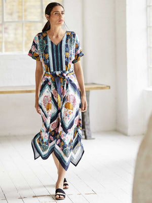 Rhoda Tencel Print Maxi Dress