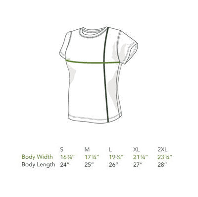 Organic Cotton T-Shirt Size Chart