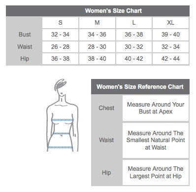 Womens Eco Sweatshirt Size Chart