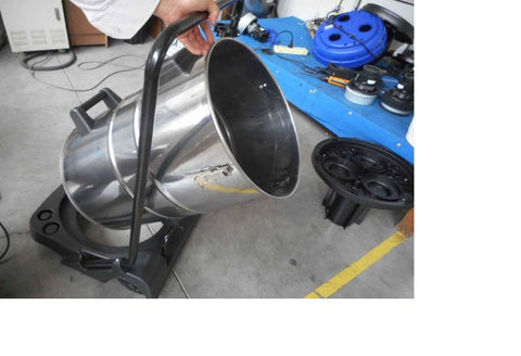 industrial vacuum cleaner tipping trolley for ease of emptying