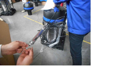 cable pull test of industrial vacuum cleaners