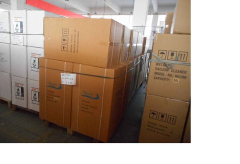 industrial vacuum cleaners ready to be shipped