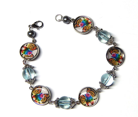 Rainbow Unicorn Kitty Cat Bracelet