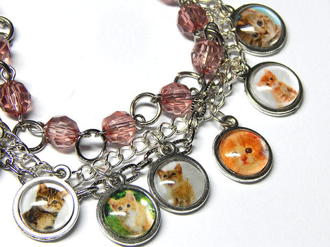 Triple Strand Kitty Cat Bracelet