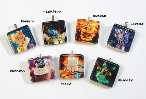 Cats in Space Pendant