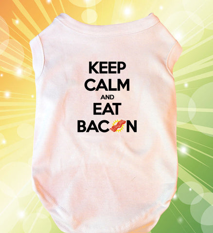 Keep Calm and Eat Bacon Doggie Tank Top