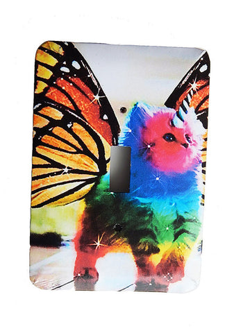 Rainbow Butterfly Unicorn Kitty Switchplates