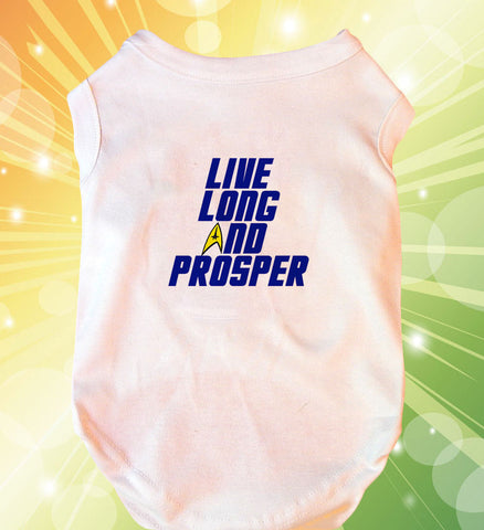 Live Long and Prosper Doggie Tank Top