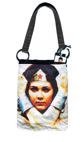Old School Wonder Woman Tote Bag