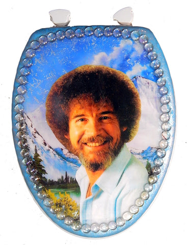 Custom Happy Trees Toilet Seat