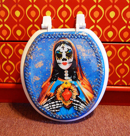 Custom Muertos Mary Toilet Seat