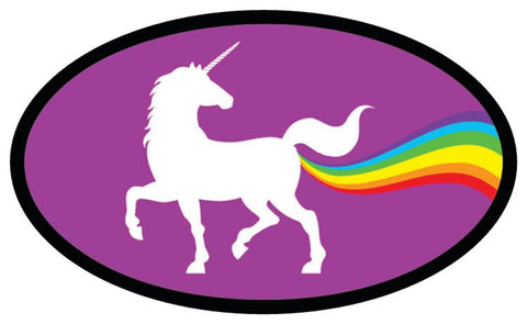 Pooping Unicorn Bumper Sticker
