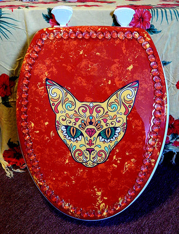 Custom Tat-Cat Toilet Seat