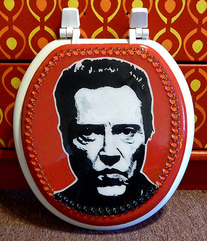 Custom Christopher Walken Toilet Seat
