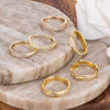 18k Gold Plated Trendy Bands