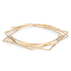 Gold Geometric 5-Bangle Set