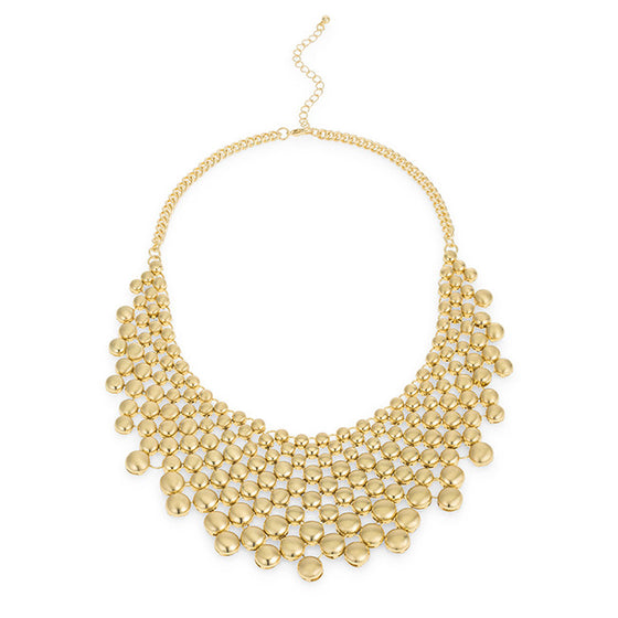 Gold Statement Bib Necklace