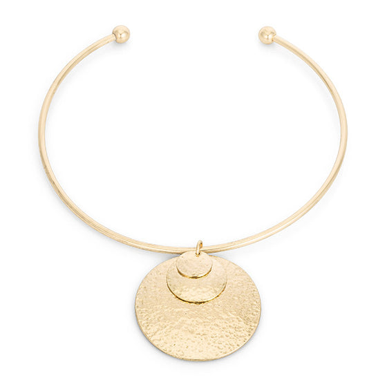 Gold Geometric Choker Necklace