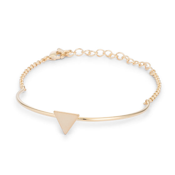 Gold Simple Triangle Bracelet