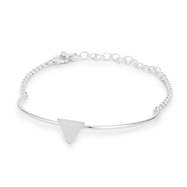 Silver Simple Triangle Bracelet