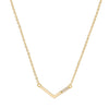 0.15ct CZ Gold Simple V-Shape Necklace