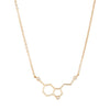 0.03ct CZ Gold Simple Molecule Necklace