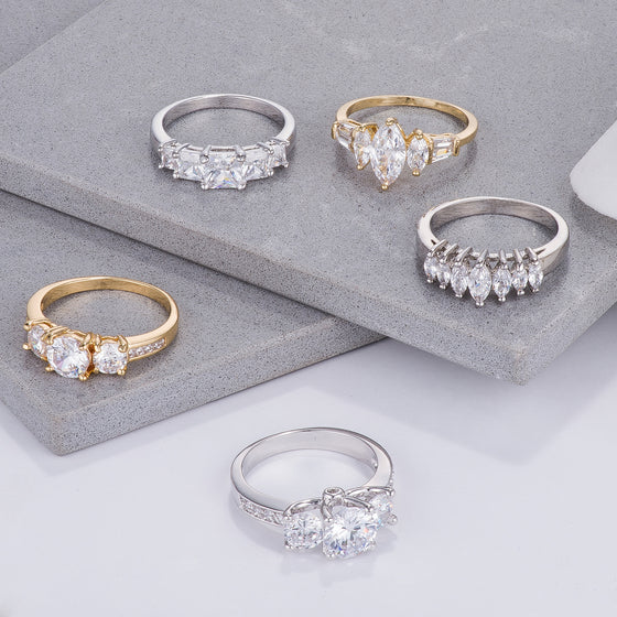 Shimmering Graduated Rings