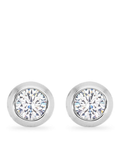 Kerry 2ct CZ White Gold Rhodium Stud Earrings